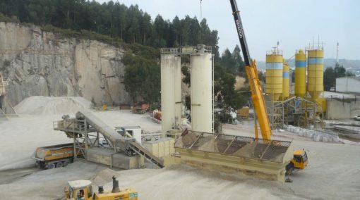 Producción de cemento y tratamiento mineral